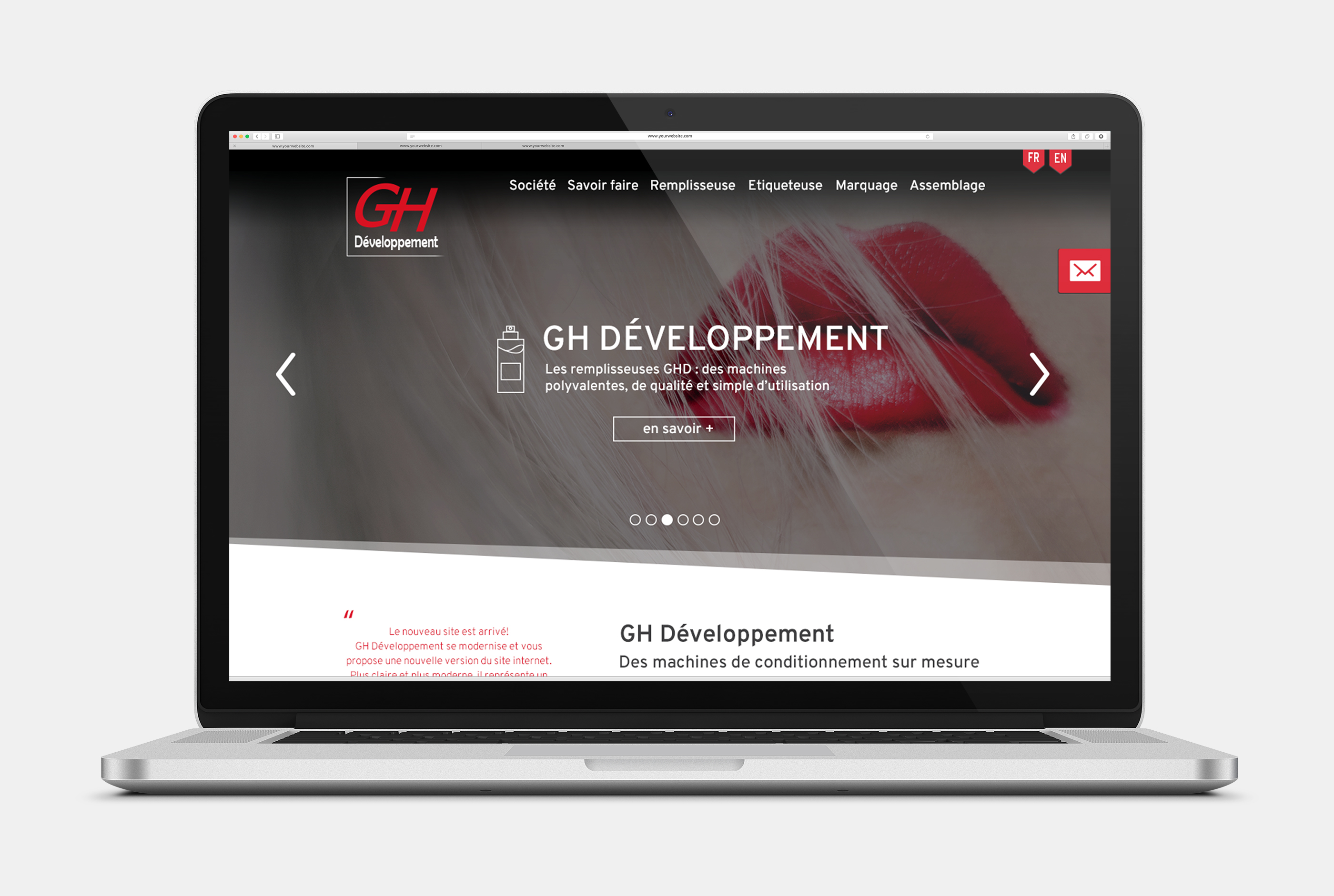 site web moderne complet referencement